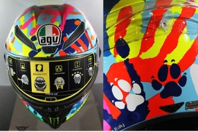 AGV Pista GP E2205 LIMITED EDITION MISANO 2014 -  羅絲的色彩神掌