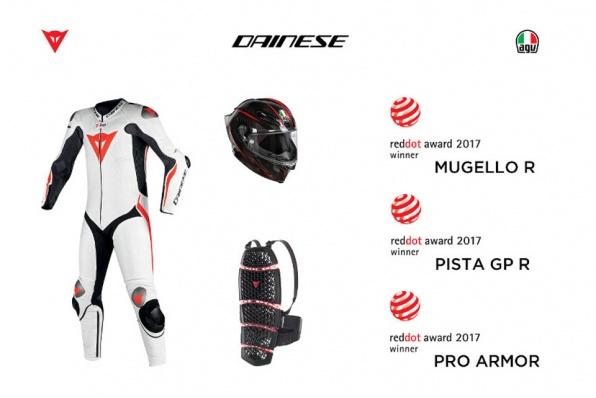 Dainese 安全保護裝備榮獲三項《Red Dot Design Awards 》產品設計2017大獎