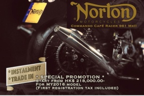 Norton Commando 961 Café Racer 勁減優惠