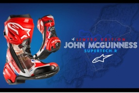 ALPINESTARS SUPERTECH R John McGuinness Limited Edition 麥堅尼斯限量版賽車皮靴接受預訂