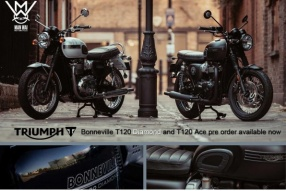 Triumph Bonneville T120 Diamond and T120 Ace 接受預訂 - 文偉