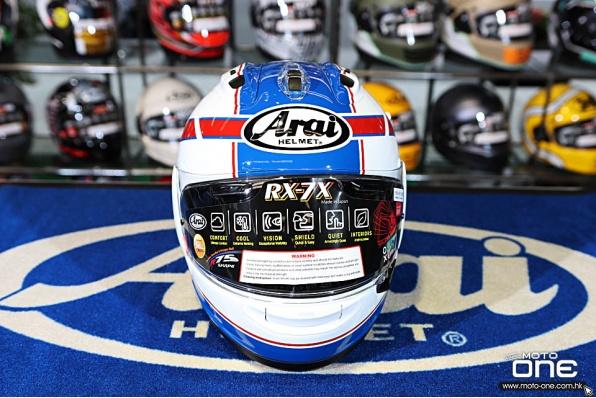 ARAI RX-7X SCHWANTZ DESIGN 經典史雲斯Kevin Schwantz復刻拉花賽車頭盔 - 鴻興現貨發售