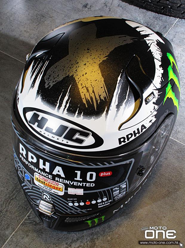 2014 HJC RPHA 10 PLUS Ghost Fuera Lorenzo 200 GP