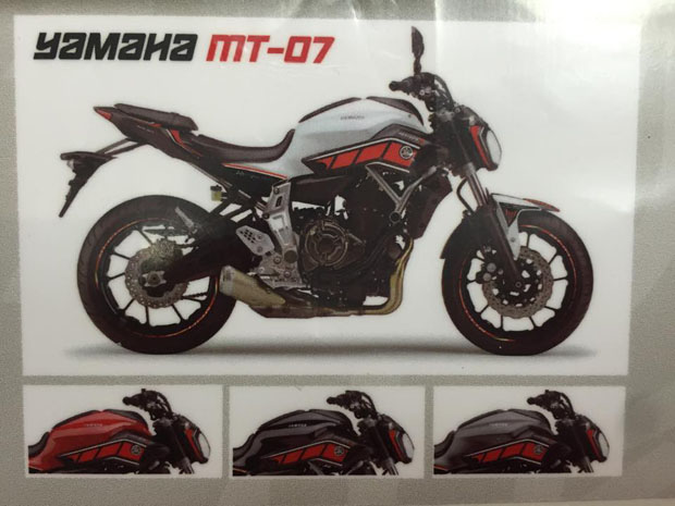 2015 CORSA MOTORS YAMAHA MT-O7 Stickers