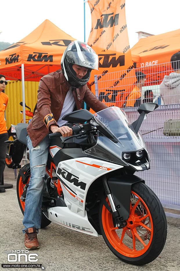 2015 ktm rc390 test day