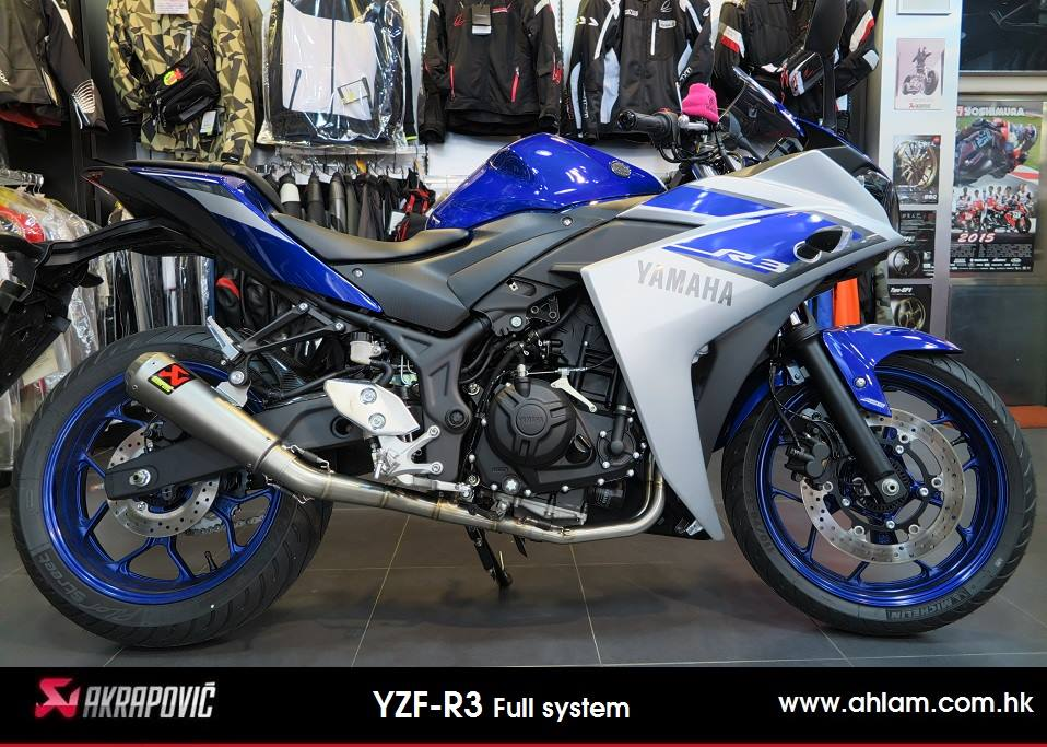 2015 YZF-R3 Akrapovic Full system GP style