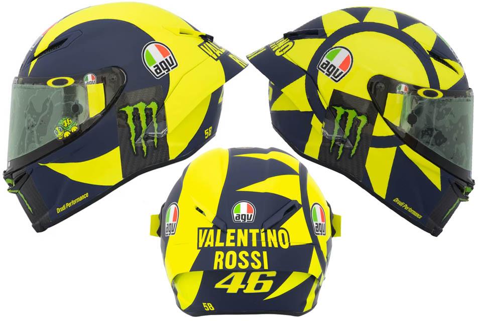 Valentino Rossi 2018 AGV Pista GP R
