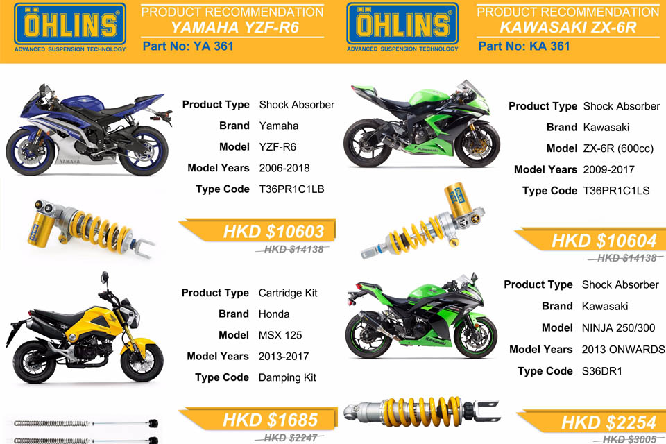 2018 Ohlins promotion