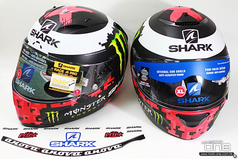 2019 SHARK J LORENZO RACE-R PRO SPARTAN HELMETS