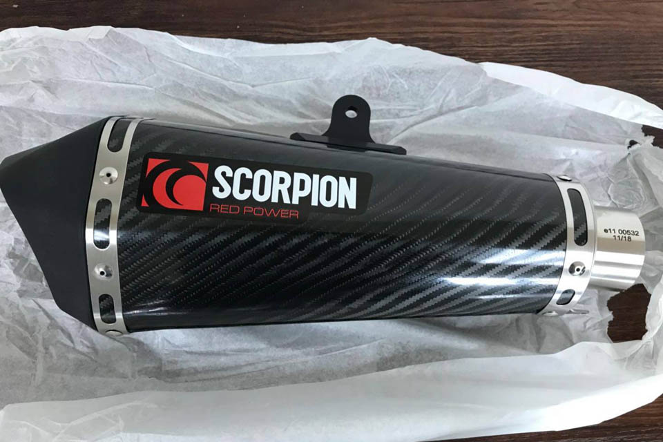 2019 Scorpion exhausts
