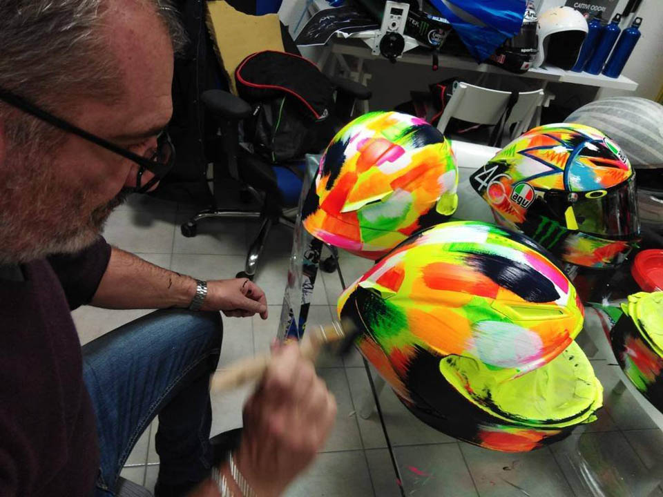 AGV Pista GP R Rossi Winter Test 2019